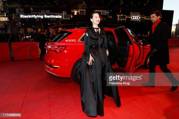 Yong Mei arrives in the Audi etron car for the So Long My Son premiere during the 69th Berlinale International Film Festival Berlin at Berlinale...