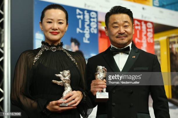Yong Mei winner of Silver Bear for Best Actress for So long My Son and Wang Jingchun winner of the Silver Bear for Best Actor for So long My Son...