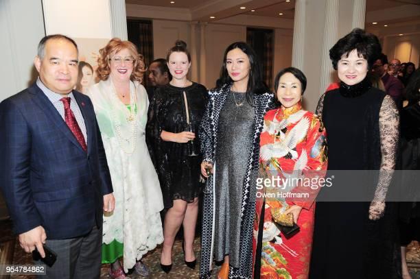 Yong Zhang Ann Marie Scichili Casey Hall Jing Zhang Audrey Kigagawa and Lisa Wang attend the 2018 China Fashion Gala at The Plaza Hotel on May 4 2018...