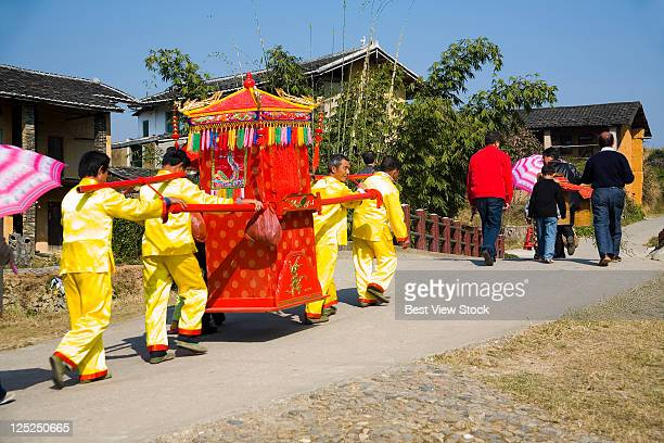 yongding,fujian - palanquin stock photos and pictures