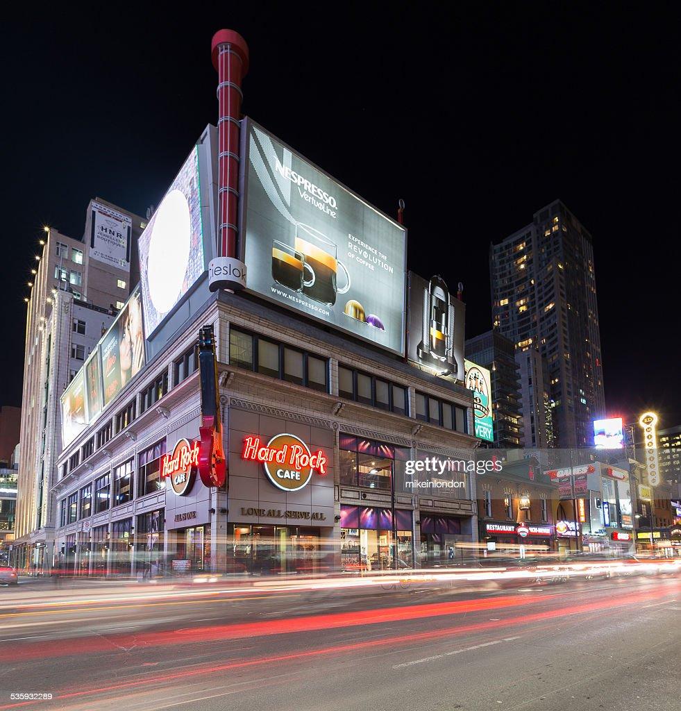 Yonge Street Toronto at Night : Stock Photo