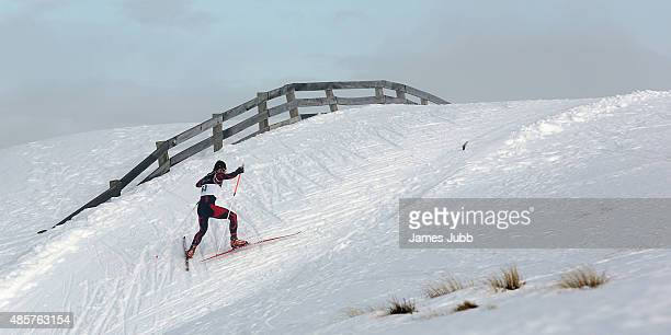 YongJin Cho of Korea competes in the Freestyle Individual Mens 10kmFIS CrossCountry Skiing ANC Individual Start Freestyle during the Winter Games NZ...