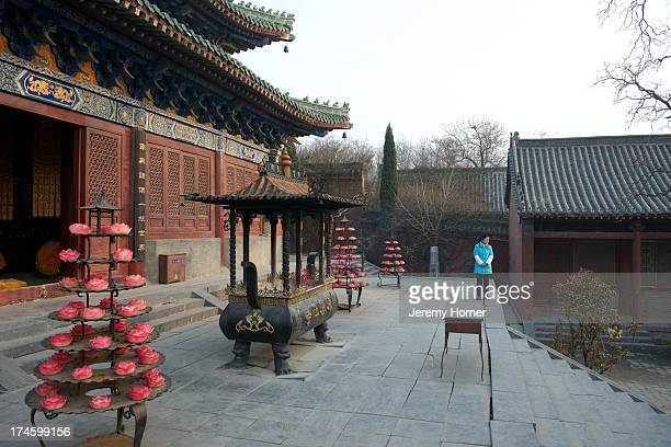 MONASTERY ZHENGZHOU HENAN CHINA Yongtai Temple opposite Shaolin Temple a Chan Buddhist temple on Mount Song near Dengfeng Zhengzhou Henan province...