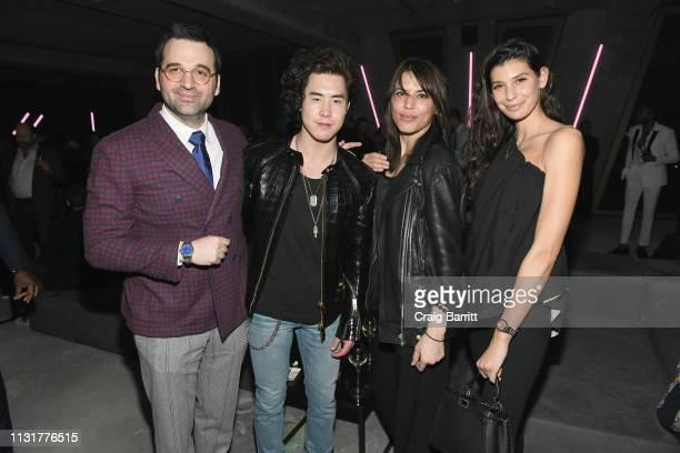 Yoni Ben-Yehuda, Michael Chang, Maria Benetos and Teresa Panico attend the Code 11.59 by Audemars Piguet New York launch at The William Vale on March...