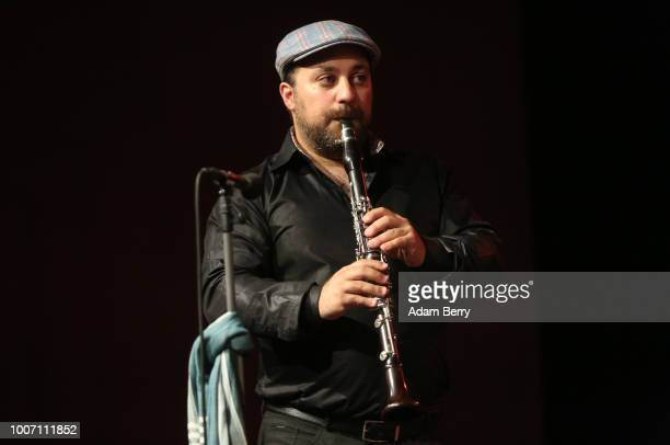Yoni Kaston of the band Siach HaSadeh performs during a concert at Yiddish Summer Weimar on July 28 2018 in Weimar Germany The annual fourweek summer...