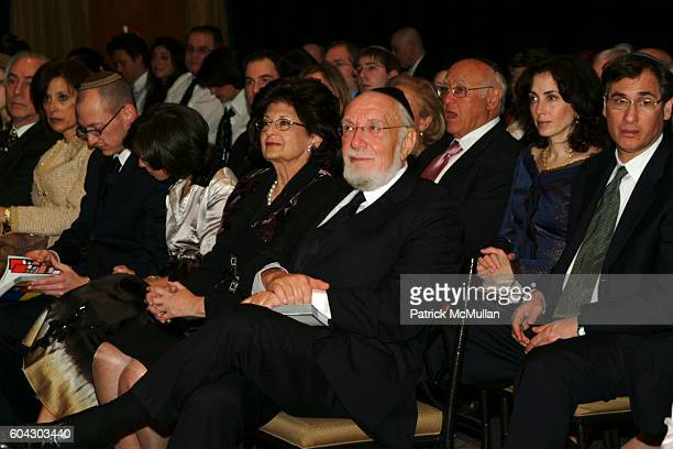 Yoni Leifer Jamie Leifer Sara Liefer and Moishe Leifer attend American Friends of Shalva Annual Dinner at Pier 60 on March 5 2006 in New York City
