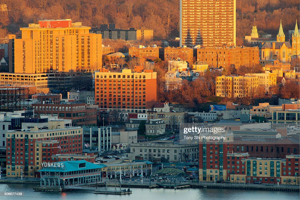 Yonkers, New York - Waterfront, downtown Skyline : Stock Photo