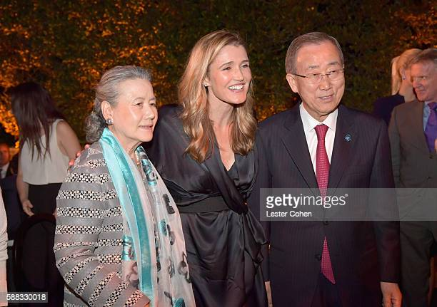 Yoo Soontaek journalist Anna Coren and UN SecretaryGeneral Ban Kimoon attend the special event for UN SecretaryGeneral Ban Kimoon hosted by Brett...