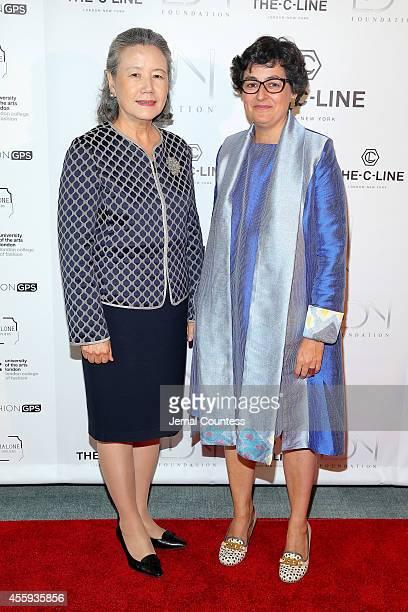 Yoo Soontaek wife of UN Secretary General Ban Kimoon and Executive Director of ITC Arancha Gonzalez attend Women Empowering Women Luncheon And...
