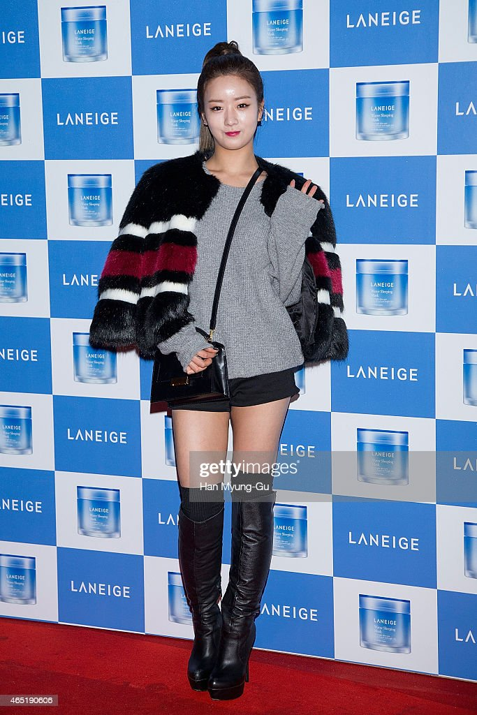 Yoon Bo-Mi of South Korean girl group Apink attends the Laneige Launch Party at Y1975 on March 3, 2015 in Seoul, South Korea.