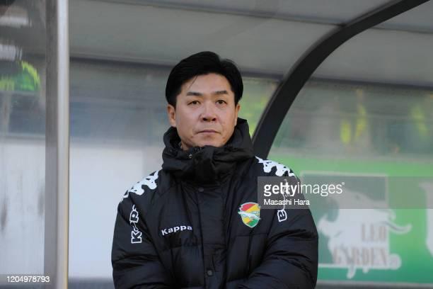 Yoon Jong Hwan,new coach of JEF United Chiba looks on prior to the preseason friendly match between JEF United Chiba and Kashiwa Reysol at Fukuda...