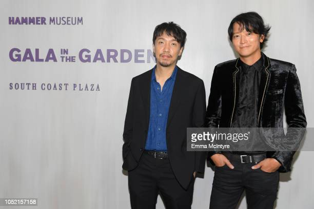 Yoon Jongbin and Kang Dong Won attend the Hammer Museum 16th Annual Gala in the Garden with generous support from South Coast Plaza at the Hammer...