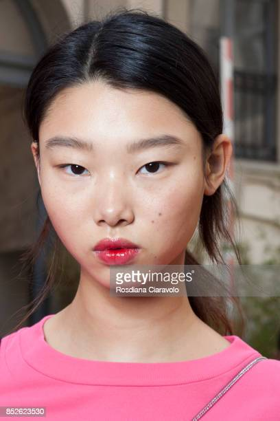 Yoon Young Bae is seen ahead of the Philosophy By Lorenzo Serafini show during Milan Fashion Week Spring/Summer 2018 on September 23 2017 in Milan...