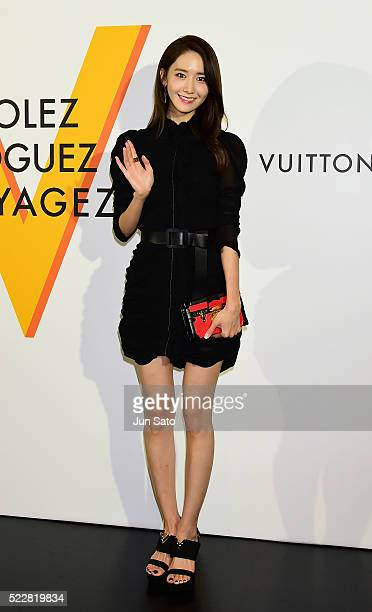 Yoona of girls generation attends the Louis Vuitton Exhibition 'Volez Voguez Voyagez' on April 21 2016 in Tokyo Japan