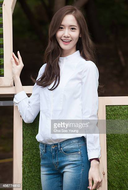 YoonA of Girls' Generation poses for photographs during the Innisfree 'Playgreen Festival 2014' at Culture Arts park on September 27 2014 in Seoul...