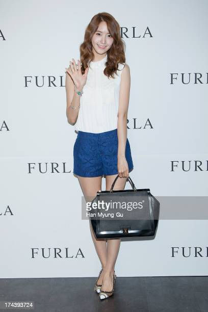 Yoona of South Korean girl group Girls' Generation attends during a promotional event for the 'Furla' 2013 F/W Presentation at Cais Gallery on July...