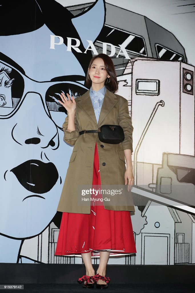 Yoona of South Korean girl group Girls' Generation attends the photocall for the 'PRADA' on February 7, 2018 in Seoul, South Korea.