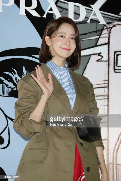 Yoona of South Korean girl group Girls' Generation attends the photocall for the 'PRADA' on February 7 2018 in Seoul South Korea