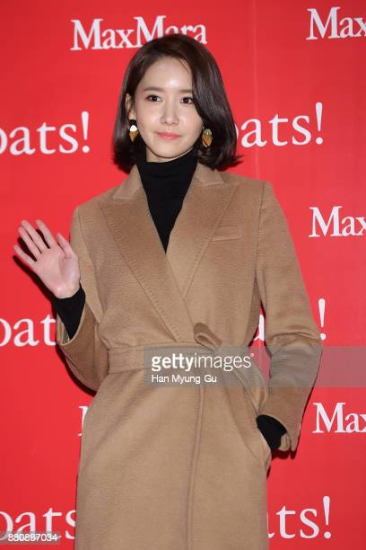Yoona of South Korean girl group Girls' Generation attends the Max Mara 'Coats' Exhibition at the DDP on November 28 2017 in Seoul South Korea