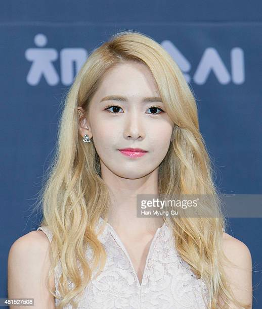 Yoona of South Korean girl group Girls' Generation attends the OnStyle 'Channel SNSD' Press Conference at Imperial Palace Hotel on July 21 2015 in...