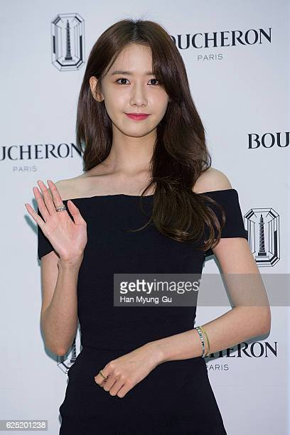 Yoona of South Korean girl group Girls' Generation attends the photo call for 'BOUCHERON Launch' at the Lotte Department Store on November 22 2016 in...