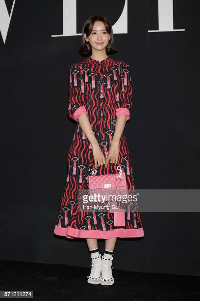 Yoona of South Korean girl group Girls' Generation attends the 'VALENTINO' The VLTN PopUp Store Opening on November 7 2017 in Seoul South Korea