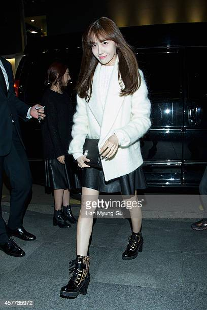 "Yoona of South Korean girl group Girls' Generation attends ""Theory"" flagship store opening on October 22, 2014 in Seoul, South Korea."