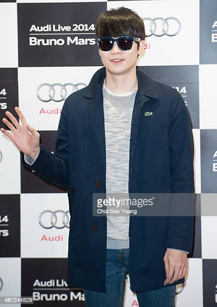 YoonHan attends the Audi Live 2014 'Bruno Mars concert' at Olympic Park on April 8 2014 in Seoul South Korea