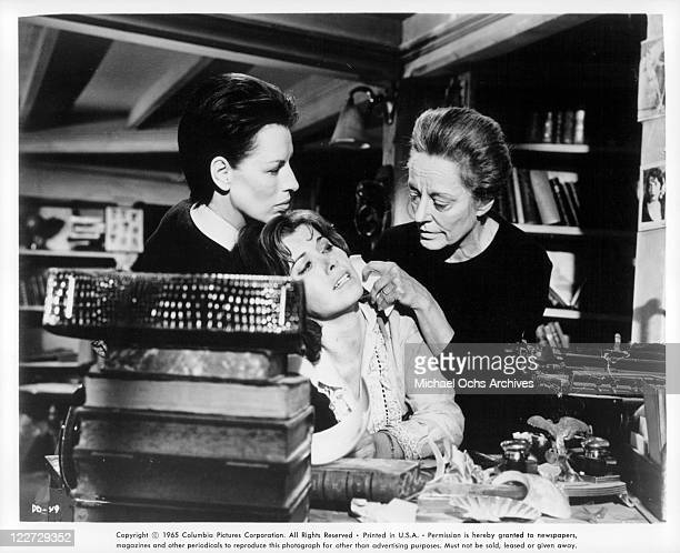 Yootha Joyce helps Tallulah Bankhead hold Stefanie Powers captive in a scene from the film 'Die Die My Darling' 1965