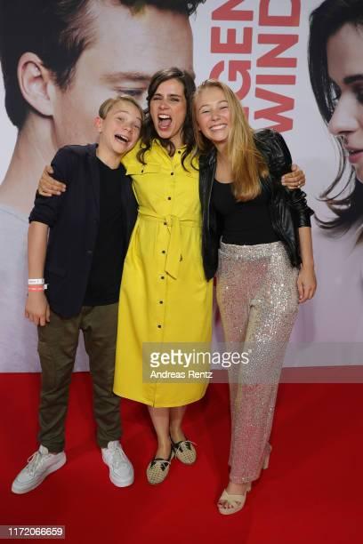 Yoran Leicher Nora Tschirner and Katharina Gieron attend the world premiere of the movie Gut gegen Nordwind at Cinedom on September 03 2019 in...