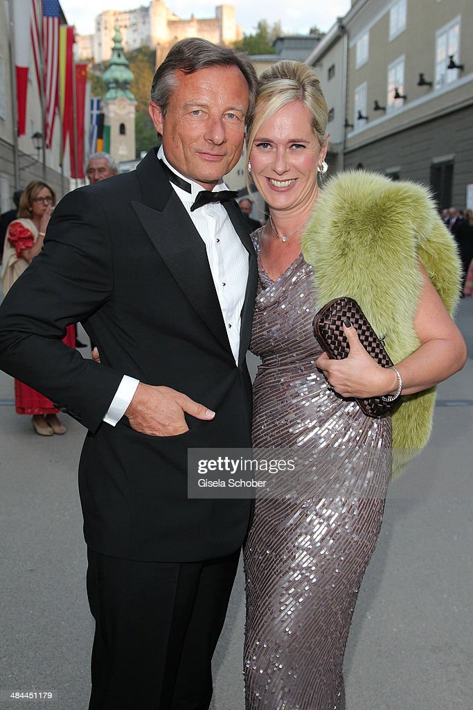Yorck Otto and his girlfriend Alexandra Albrecht attend the opening of the easter festival 2014 (Osterfestspiele) on April 12, 2014 in Salzburg, Austria.