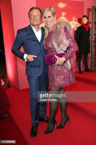 Yorck Otto and his wife Alexandra Otto during Michael Kaefer's 60th birthday celebration at Postpalast on February 2 2018 in Munich Germany
