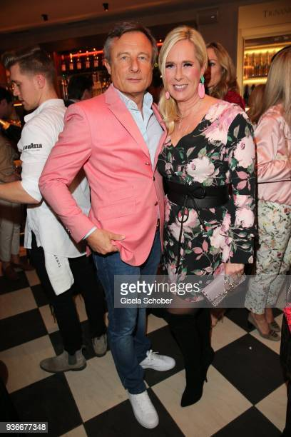 Yorck Otto and his wife Alexandra Otto during the 'Spring Fashion Dance' Party hosted by Joana Danciu at Tambosi on March 22 2018 in Munich Germany