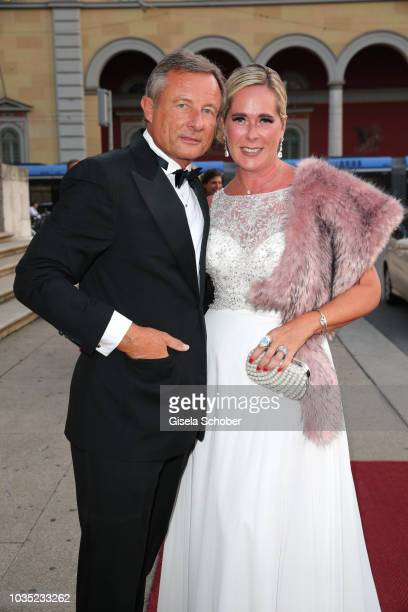 Yorck Otto and his wife Alexandra Otto during the traditional Buehnendinner 2018 at Bayerische Staatsoper on September 17 2018 in Munich Germany