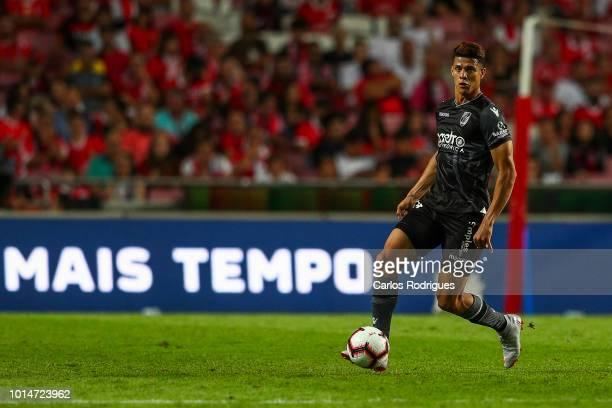 Yordan Osorio of Vitoria SC drives the ball during the Liga NOS match between SL Benfica and Vitoria SC at Estadio da Luz on August 10 2018 in Lisbon...