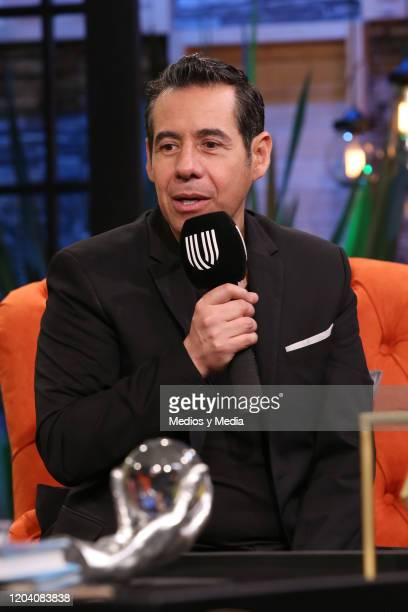 Yordi Rosado during a press conference on February 4, 2020 in Mexico City, Mexico.