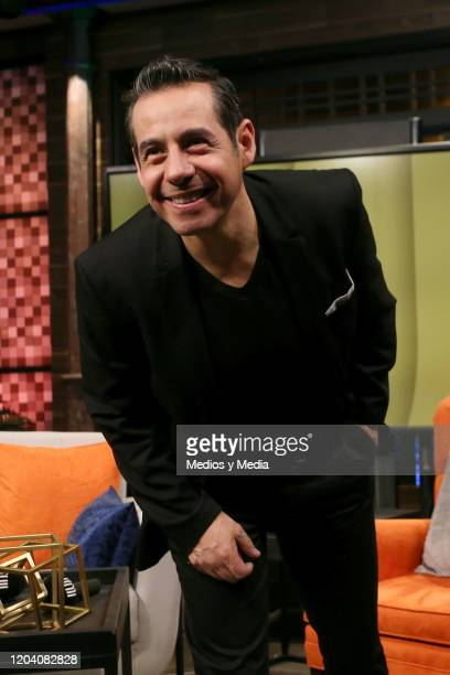 Yordi Rosado poses for photos during a press conference on February 4, 2020 in Mexico City, Mexico.