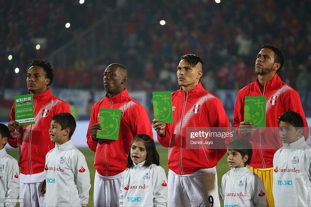 Chile v Peru: Semi Final - 2015 Copa America Chile : News Photo