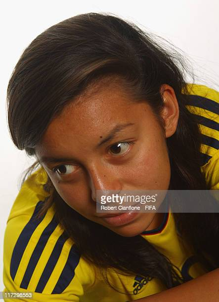 Yoreli Rincon of Colombia during the FIFA portrait session on June 25 2011 in Cologne Germany
