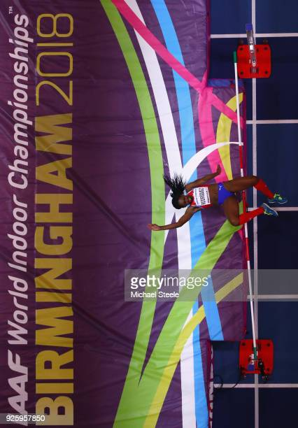 Yorgelis Rodriguez of Cuba competes in the Womens High Jump Final on Day One of the IAAF World Indoor Championships at Arena Birmingham on March 1...