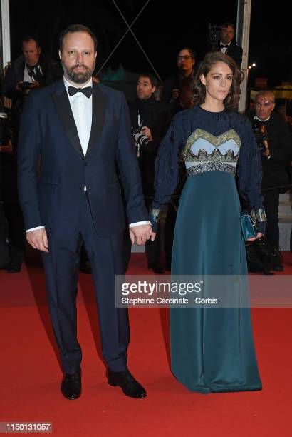 Yorgos Lanthimos and Ariane Labed attend the screening of The Whistlers during the 72nd annual Cannes Film Festival on May 18 2019 in Cannes France