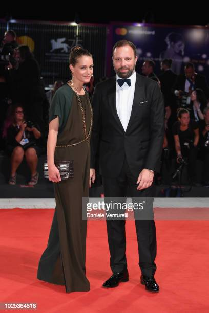 Yorgos Lanthimos and Ariane Labed walk the red carpet ahead of the 'The Favourite' screening during the 75th Venice Film Festival at Sala Grande on...