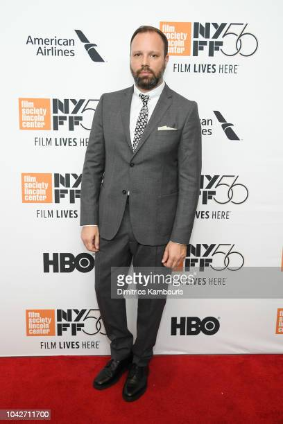 Yorgos Lanthimos attends the opening night premiere of The Favourite during the 56th New York Film Festival at Alice Tully Hall Lincoln Center on...