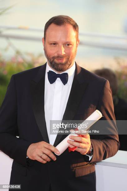 Yorgos Lanthimos attends the winners photocall during the 70th annual Cannes Film Festival at Palais des Festivals on May 28 2017 in Cannes France