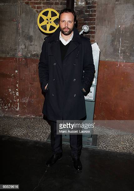 Yorgos Lanthimos poses for Greek Contemporary Cinema 6th Panorama at Le Cinema des Cineastes on December 1 2009 in Paris France