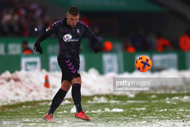 Yoric Ravet of SC Freiburg in action during the Bundesliga match between 1 FC Koeln and SportClub Freiburg at RheinEnergieStadion on December 10 2017...