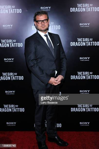 Yorick Van Wageningen attends the 'The Girl With the Dragon Tattoo' New York premiere at Ziegfeld Theater on December 14 2011 in New York City
