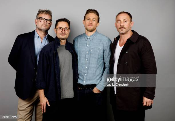 Yorick Van Wageningen director Michael Noer Charlie Hunnam and Rolland Moller from the film 'Papillon' pose for a portrait at the 2017 Toronto...