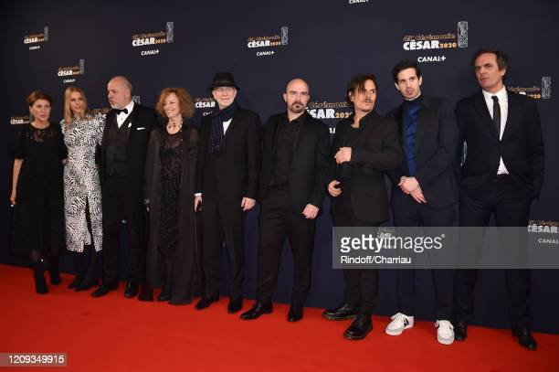 Yorina Bosco Dan Levy Hakim Faris and guests arrive at the Cesar Film Awards 2020 Ceremony At Salle Pleyel In Paris on February 28 2020 in Paris...