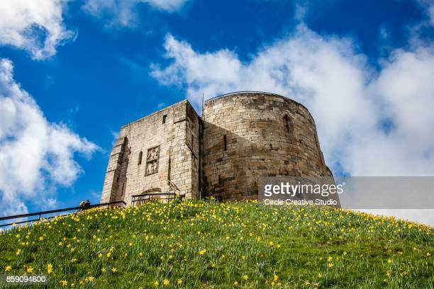 york castle, clifford's tower - york yorkshire stock photos and pictures